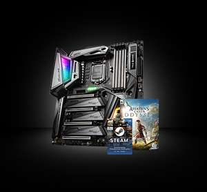 Scan FREE Assassins Creed Odyssey Game, WD M.2 SSD and a $20 Steam Wallet Code with selected Z390 MSI GAMING MOTHERBOARDS