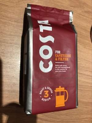 Costa Coffee Ground Coffee 200g For Cafetiere And Espresso