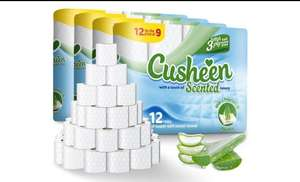 60 (£15.98) or 120 (£28.98) rolls of Cusheen quilted & scented 3 ply Toilet roll / loo roll Delivered @ Groupon