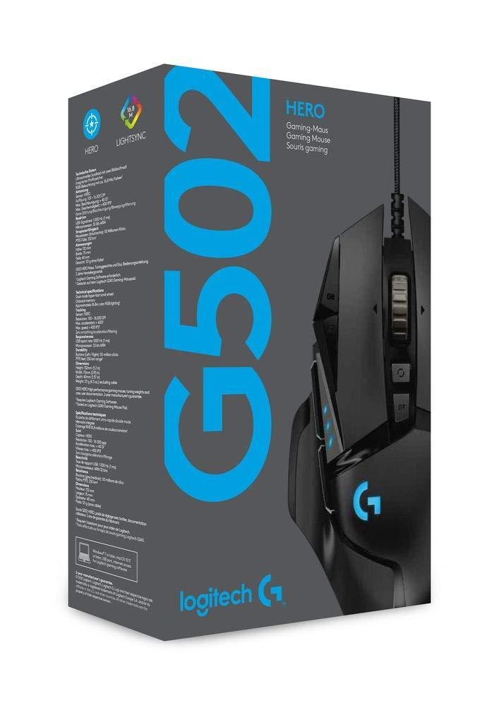 Logitech G502 HERO Gaming Mouse with HERO Sensor RGB 16000 DPI £57.95 Amazon