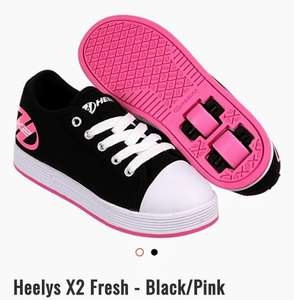 Kids Heelys X2 Fresh - Black/Pink from junior size 11 upto Size 5 @ Skatehut £29.99 with free delivery & possible 6% TCB