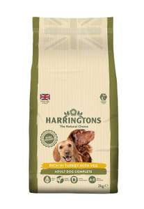 Harringtons Complete Turkey and Vegetables Dry Mix Dog Food, 2 kg, Pack of 4 @ Amazon Add On £4