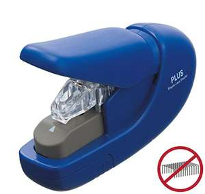 PLUS Japan, Staple-Free Stapler Blue, 5 sheet capacity- £5.59 (Prime) £10.08 (Non Prime) @ Amazon