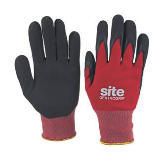 Site Dextrogrip  Nitrile Foam Coated Gloves Red/ Black £1.99 @ Screwfix