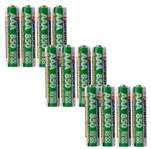 "7dayshop ""GOOD TO GO"" AAA HR03 Pre-Charged NiMH Rechargeable Batteries 850mAh - Value 12 Pack - £7.49 @ 7dayshop"