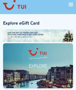 10% off TUI or First choice e-gift cards, £50,£100 or £200