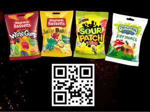Cineworld - Free selected bag of sweets today with QR code and ticket