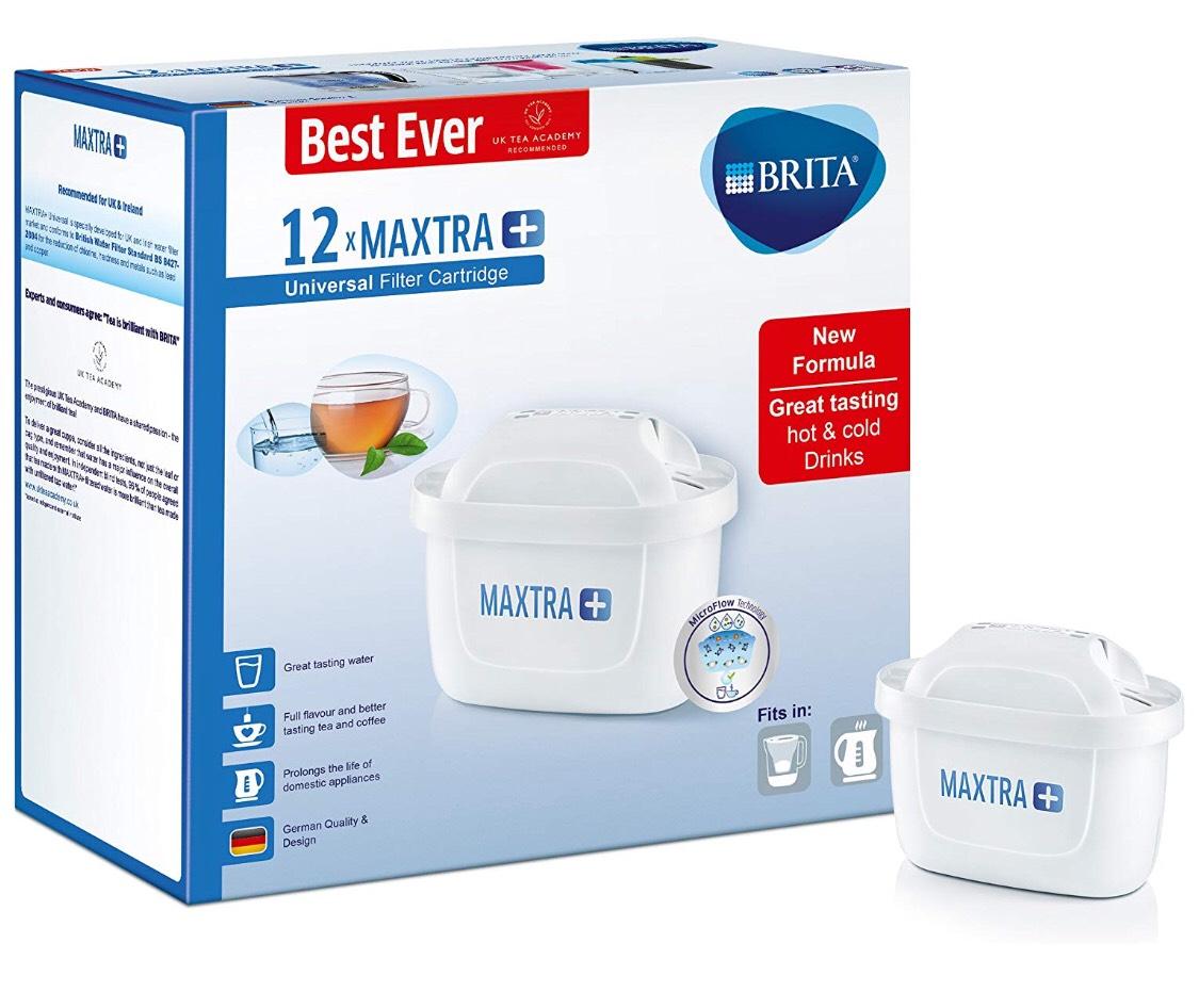 BRITA Maxtra+ Water Filter Cartridges, White, Pack of 12 (UK Version) £39.99 Amazon