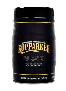 Kopparberg Black Blackcurrant & Blackberry Draught Cider Keg 5L £18 @ Asda