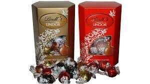 Lindt Lindor 337g boxes Red (milk) and gold (mixed selection) boxes £5.50 asda instore & online