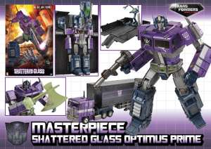 Optimus Prime Shattered Glass MP10 £69.99 + £2.95 postage at 	Kapow Toys