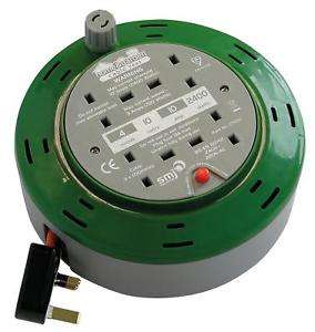 SMJ CT1010 Cable Reel Power Extension 10m Cable 4 Socket 10 Amp 2400 Watts- £10 + free C&C @ Halfords eBay