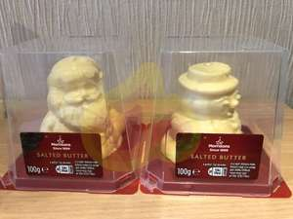 Morrison's Christmas butter figures £1 instore