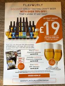 20 Craft Beers and 2 glasses for £19 delivered @ Flavourly