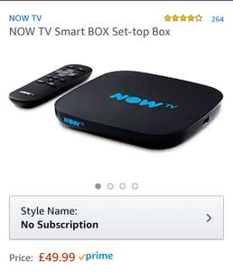 Now TV box. 60 Freeview channels, 12 HD channels £49.99 @ Amazon - Add Now TV Sky Cinema & Entertainment pack for £51 for 6 months