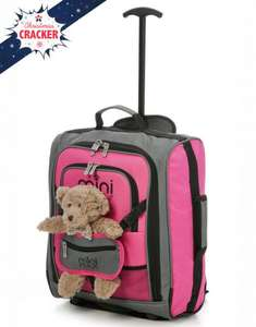 MiniMAX Kids Backpack / Trolley Bag with Pouch for Doll/Action Figure/Bear in Blue or Pink £13.99 delivered @ Travel Luggage & Cabin Bags