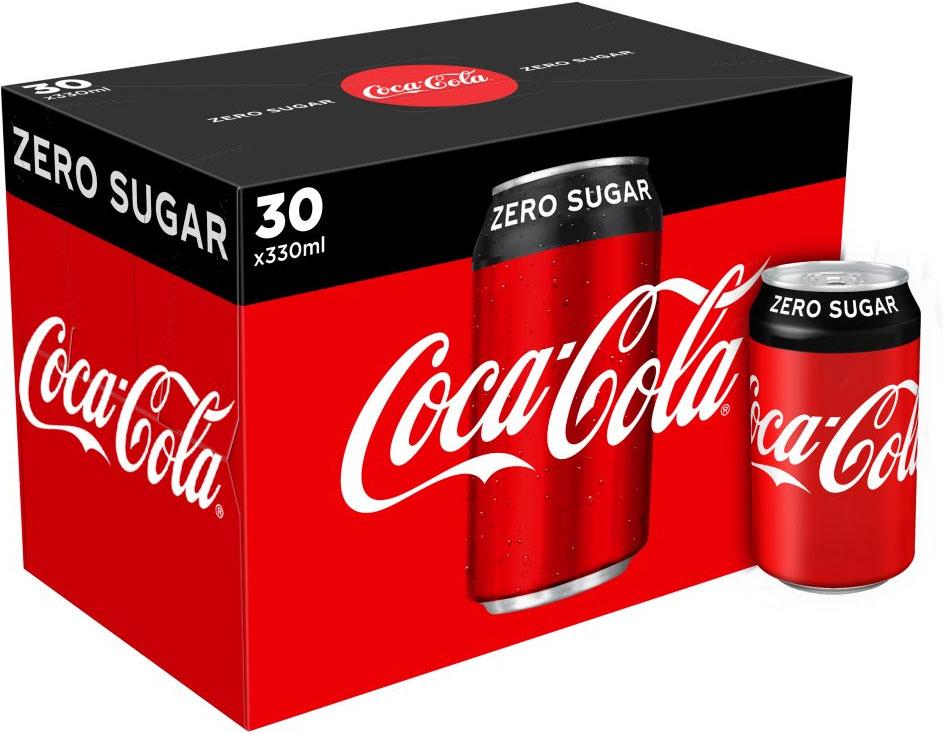 Coca Cola Zero Sugar 30x330ml, Diet Coke (30x330ml)  and Coca Cola  (24x330ml) £8.50 @ Asda or 2 for £17.00 at Morrisons (mysupermarket)