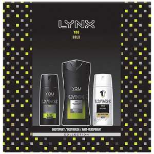 Lynx You Trio Men's Gift Set with Body Wash, Body Spray @ Amazon £3.19 Prime £7.68.Non Prime Free Delivery With Code Until 05/12
