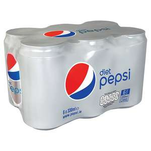 6 x 330ml Cans Of Diet Pepsi For 50p In Poundstretcher