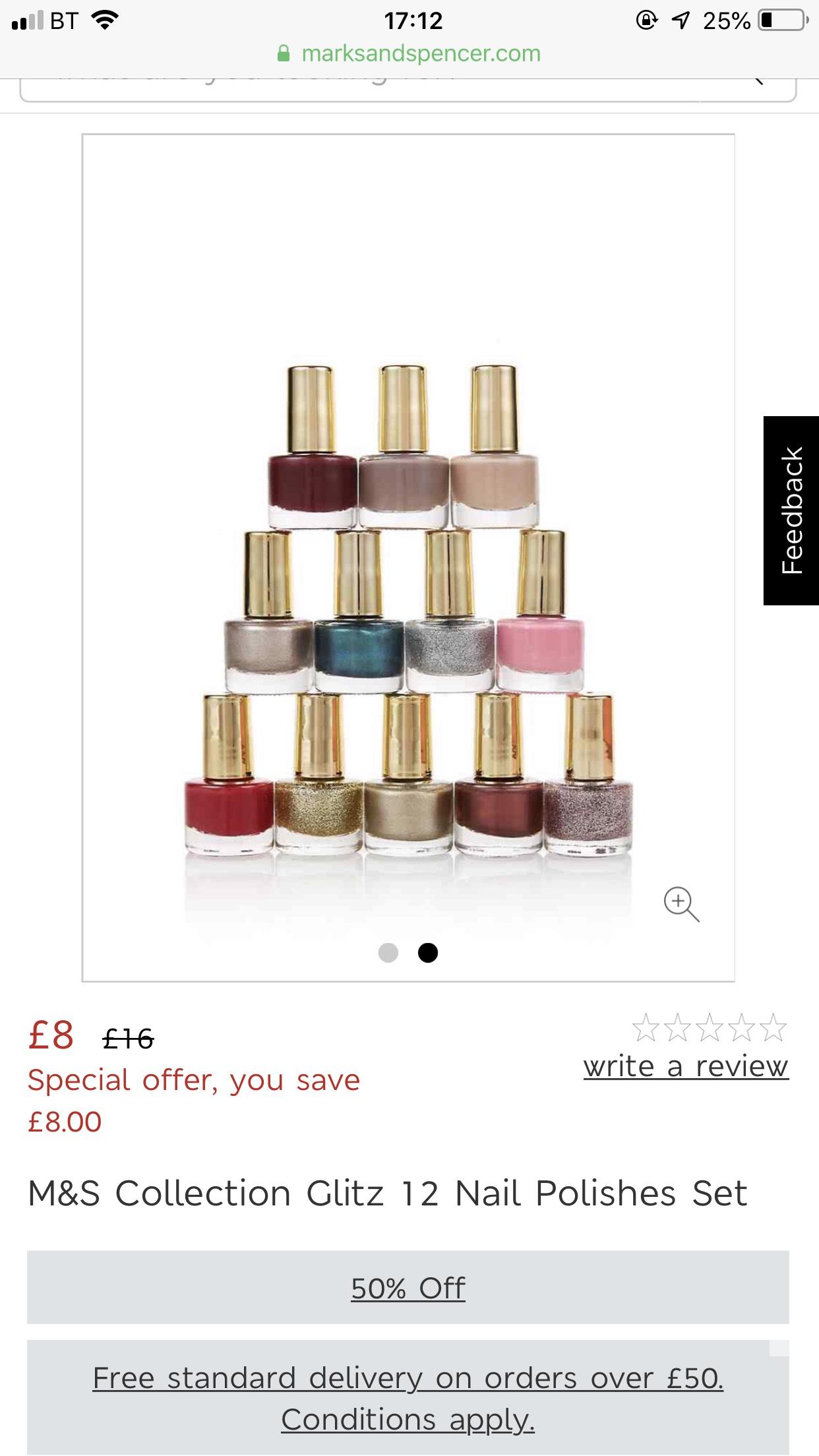 M&S COLLECTION  Glitz 12 Nail Polishes Set £8 - Free c&c