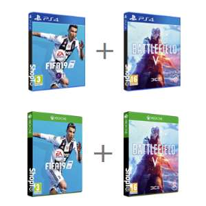 PS4 / Xbox One - Battlefield V + Fifa 19 £57.85 delivered @ Shopto