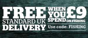 Free standard UK delivery & Go Outdoors when you spend £9 on fishing