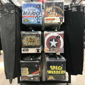 Awesome selection of retro t-shirts in store @ Tesco - Mario, Donkey Kong, Nintendo, Space Invaders, Star Wars, Captain America - only £8!