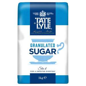 TATE AND LYLE GRANULATED SUGAR 1KG 49P instore @ Savers