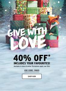 Bodyshop 40% off  INCLUDING gift sets with code + free delivery on orders over £15