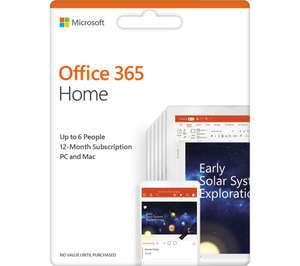 Office 365 Home - £59.99 @ PC World