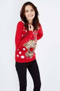 Women's Christmas Jumpers & T-Shirts £5 - £13.99 with Free Express Delivery at Select