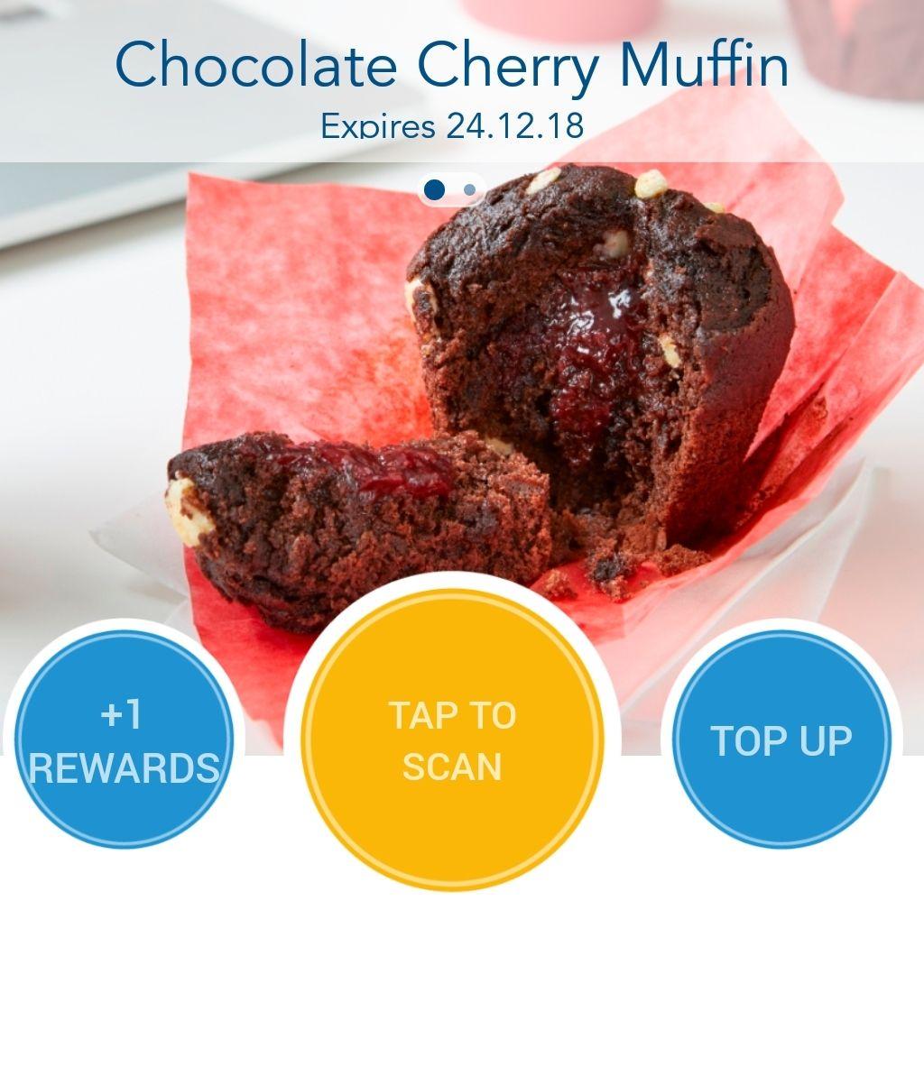 Free Chocolate Cherry Muffin on Greggs rewards
