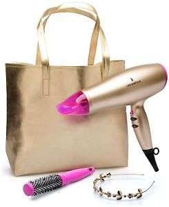 Lee Stafford Your Time to Shine 2200w Lightweight Hairdryer Kit - Gold/Pink now £14.99 @ Argos / Ebay Free P & P
