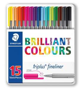 Staedtler Triplus Fineliner Tin of 15 @ Rymans for £4.99 (Check in store stock)