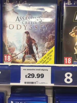 Assassins Creed Odyssey £29.99 Sainsburys