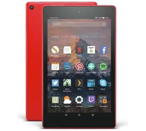 Amazon Fire 8 HD Alexa 8 Inch 16GB Tablet - Punch Red/Dark Blue - £52.99 @ Argos