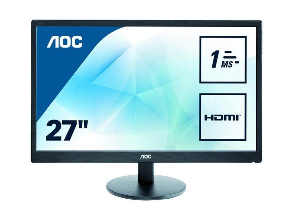 """AOC 27"""" E2770SH 1ms Response Time LED Monitor, HDMI, DVI, VGA, Speakers, Vesa - Black for £109.99 delivered @ Amazon"""