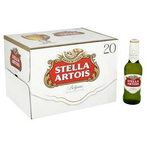 Stella Artois Lager Bottle, 20 x 284 ml for £10 (Del +£2.99, seep OP for free delivery) @ Amazon Pantry UK