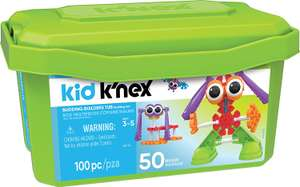 Kid K'NEX Budding Builders Building Set for Ages 3 and Up, Preschool Educational Toy, 100 Pieces @ Amazon £16.79 Prime £21.28 Non Prime