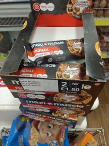 Maximuscle Promax Protein Bar Millionaires Shortbread 60g 2 for £1.50 @ Fultons Foods