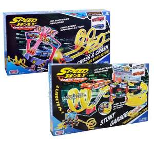 2 x Motormax - Speedway Stunt Garage / Speedway Cross and Crash Stunt Track Playsets £20 w/code @ Debenhams (Free c+c w/code SH3J)