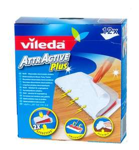 Vileda VIL125741 Attractive Plus Mop Refills (Pack 12) @ Amazon Add On £2.70