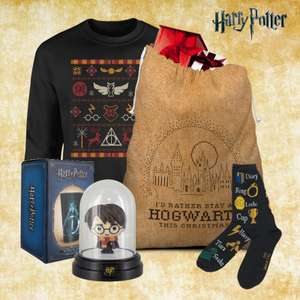 HARRY POTTER MEGA CHRISTMAS GIFT SET (  Sweatshirt, jar light,  Hallows Glass, Socks ) (Worth £55) Now £24.99 @ IWOOT