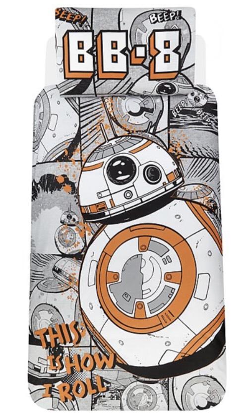 Star Wars BB-8 Reversible Duvet Set - Single £5.60 @ George Asda free c+c