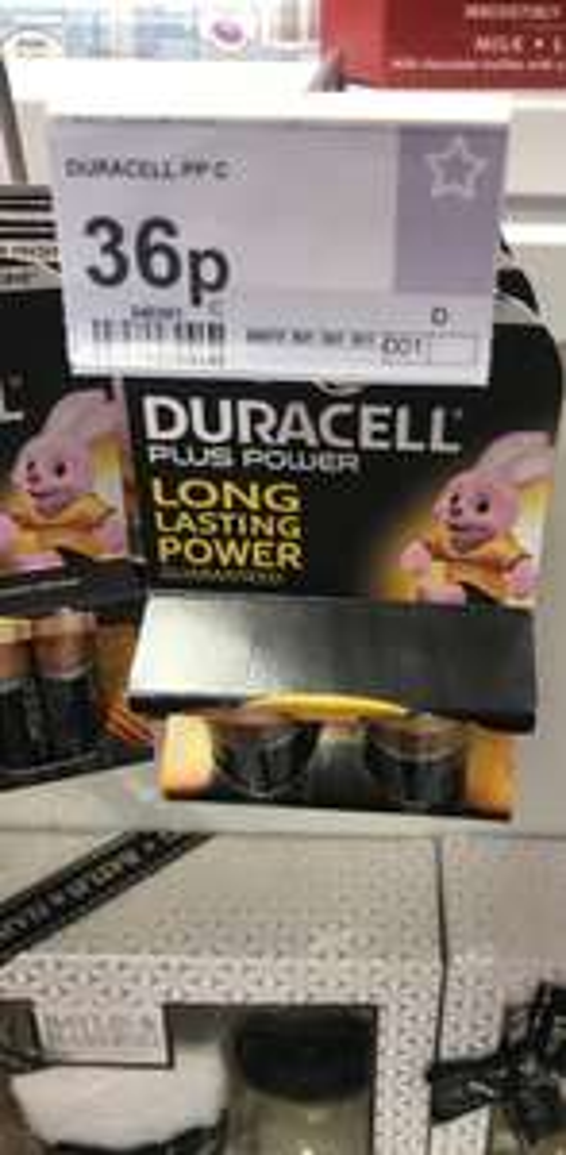 Duracell plus power (long lasting power) C batteries 2pk 36p instore @ Superdrug Swansea