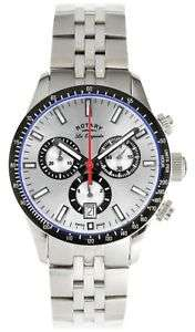 Rotary Swiss  made Quartz GB90151/06 Easy Read Dial Steel Case Chronograph Watch with sapphire  Crystal. Argos ebay .