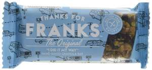 Thanks for Franks Gluten Free Granola Flapjack Bar Original 55 g (Tray of 15) @ Amazon £6.68 Prime £11.17 Non Prime
