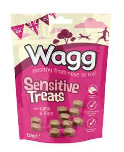 Wagg Sensitive Dry Mix Treats With Lamb and Rice 125 g (Pack of 7) @ Amazon £4.59 Prime £9.08 Non Prime