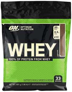 Optimum Nutrition ON Whey Whey Protein Powder - Chocolate, 33 Servings, 891g  £10.77 + £4.49 delivery (Non Prime) @ Amazon