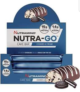 15 x Nutra go protein cake bars  from £6.97 using voucher, subscribe & save & Amazon prime student